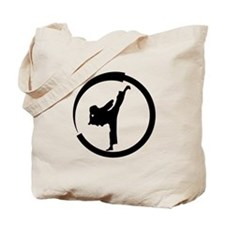 Tang Soo Do girl in circle Tote Bag