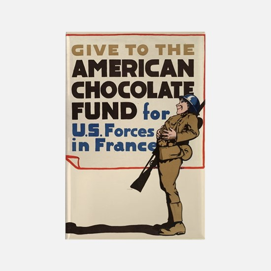 Give to the American chocolate fund for US forces