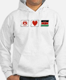 Peace, Love and Kenya Hoodie