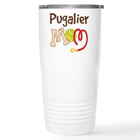 Pugalier Dog Mom Stainless Steel Travel Mug