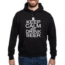 Keep Calm and Drink Beer Hoodie