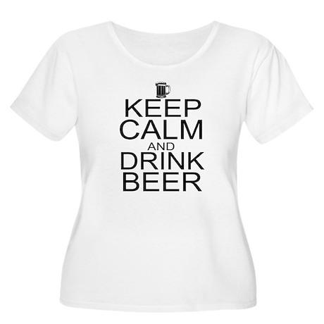 Keep Calm and Drink Beer Women's Plus Size Scoop N