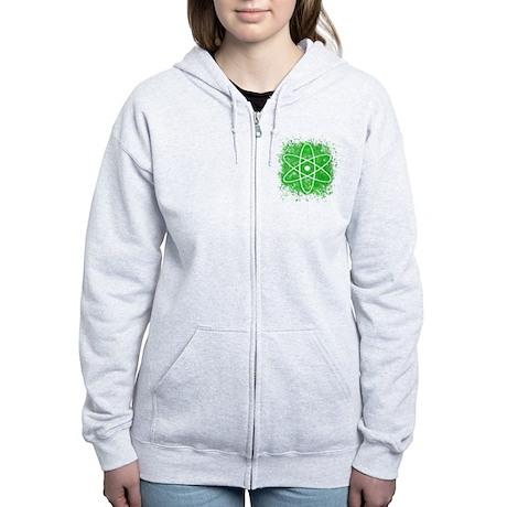 Cool Nuclear Splat Women's Zip Hoodie