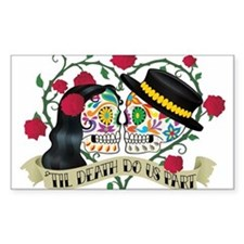 Day Of The Dead Wedding Decal