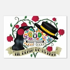 Day Of The Dead Wedding Postcards (Pack of 8)
