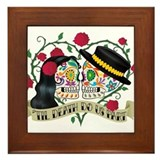 Skull wedding Framed Tiles