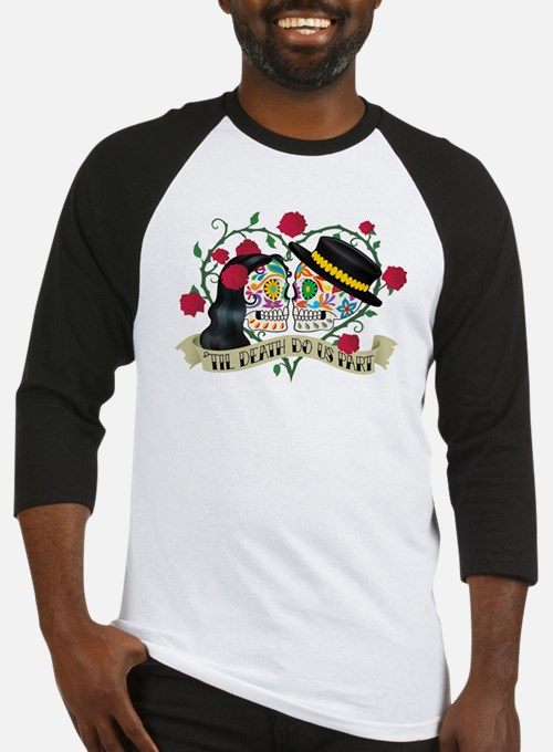 Day Of The Dead Wedding Baseball Jersey