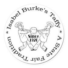 Burkes Taffy Round Car Magnet