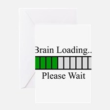 Brain Loading Bar Greeting Card