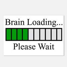 Brain Loading Bar Postcards (Package of 8)