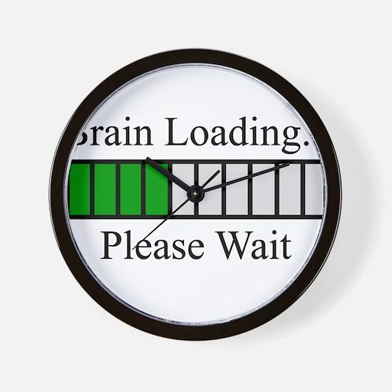 Brain Loading Bar Wall Clock