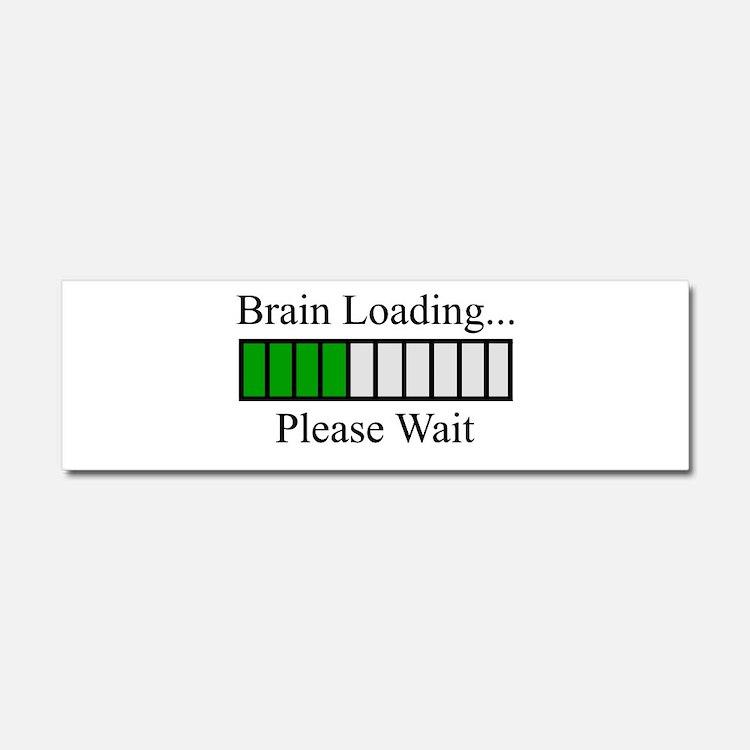 Brain Loading Bar Car Magnet 10 x 3