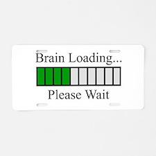 Brain Loading Bar Aluminum License Plate