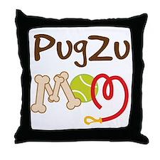 PugZu Dog Mom Throw Pillow