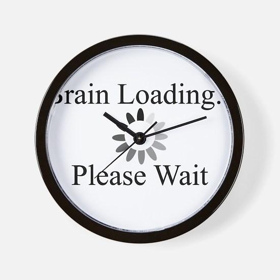 Brain Loading Circle Wall Clock