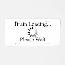 Brain Loading Circle Aluminum License Plate