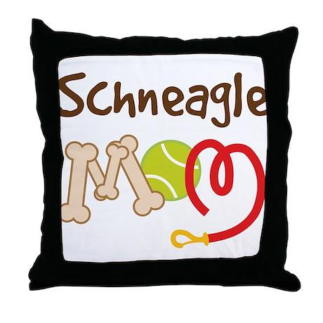 Schneagle Dog Mom Throw Pillow