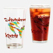 Shotokan Splash design Drinking Glass
