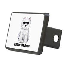 Bad to the Bone Westie! Hitch Cover