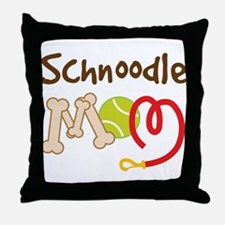 Schnoodle Dog Mom Throw Pillow