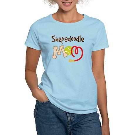Shepadoodle Dog Mom Women's Light T-Shirt