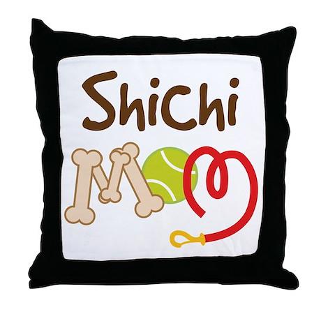 Shichi Dog Mom Throw Pillow