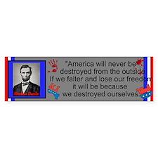 Destroy Ourselves Bumper Sticker