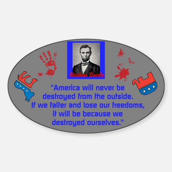 Destroy Ourselves Sticker (Oval)