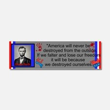 Destroy Ourselves Car Magnet 10 x 3