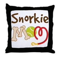 Snorkie Dog Mom Throw Pillow