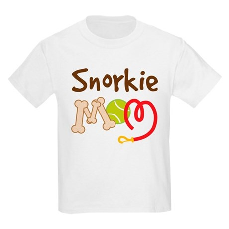 Snorkie Dog Mom Kids Light T-Shirt