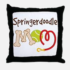 Springerdoodle Dog Mom Throw Pillow