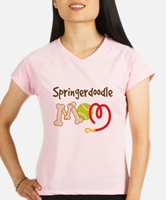Springerdoodle Dog Mom Performance Dry T-Shirt