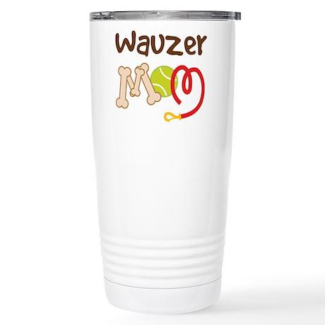 Wauzer Dog Mom Stainless Steel Travel Mug