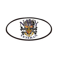 USN Navy Veteran Skull Patches