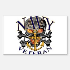 USN Navy Veteran Skull Decal