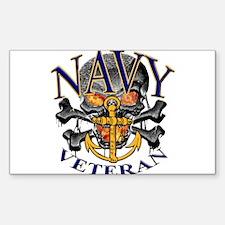 USN Navy Veteran Skull Decal