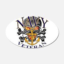 USN Navy Veteran Skull Wall Decal