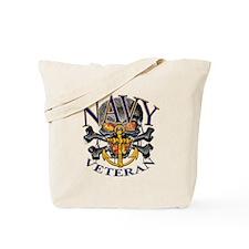 USN Navy Veteran Skull Tote Bag