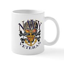 USN Navy Veteran Skull Mug