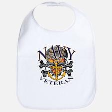 USN Navy Veteran Skull Bib