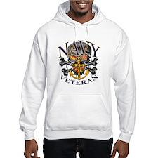 USN Navy Veteran Skull Hoodie