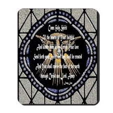 Come Holy Spirit Prayer Mosaic Mousepad