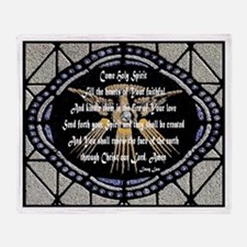 Come Holy Spirit Prayer Mosaic Throw Blanket