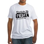 Ready Fight Mesothelioma Fitted T-Shirt