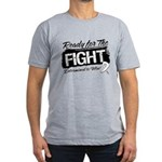 Ready Fight Mesothelioma Men's Fitted T-Shirt (dar