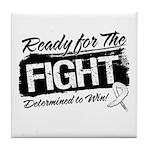 Ready Fight Mesothelioma Tile Coaster