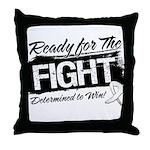Ready Fight Mesothelioma Throw Pillow