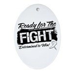 Ready Fight Mesothelioma Ornament (Oval)