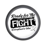 Ready Fight Mesothelioma Wall Clock